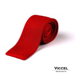 Viccel Knit Silk Tie luxury gift Red tie