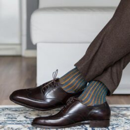 Viccel Petrolium Mustard Cotton Socks