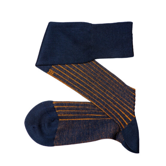 Navy Blue Mustard Viccel Shadow Socks Luxury Socks Cotton Socks
