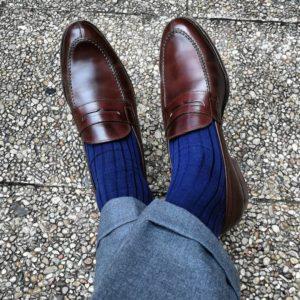 viccel egyptian blue cotton socks luxury socks