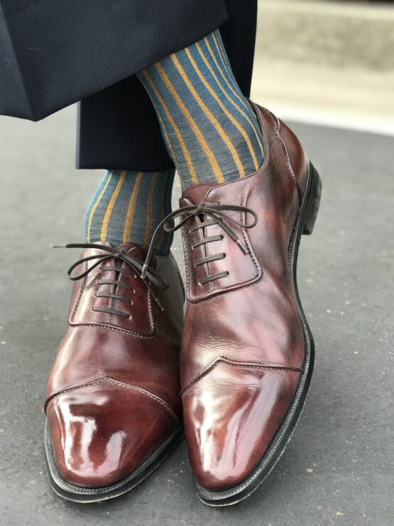viccel petrolium Mustard shadow cotton socks fathers day