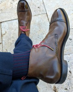 viccel navy blue burgundy shadow over the knee luxury dress socks