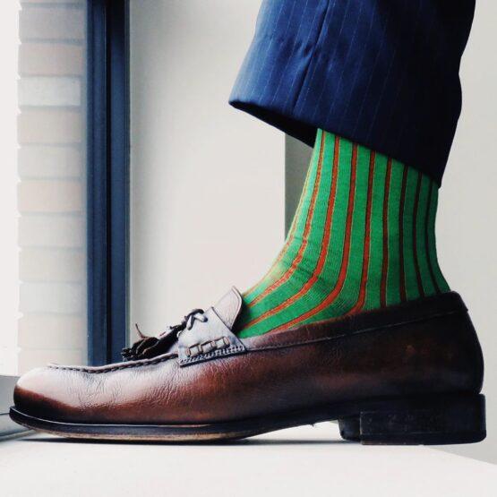 viccel socks pisracio green over the calf luxury cotton socks