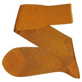 Viccel Socks mustard brown ove the calf luxury dress socks