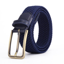 Viccel luxury elastic belts navy blue