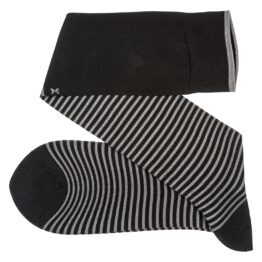 Viccel Striped over the calf Black Gray socks