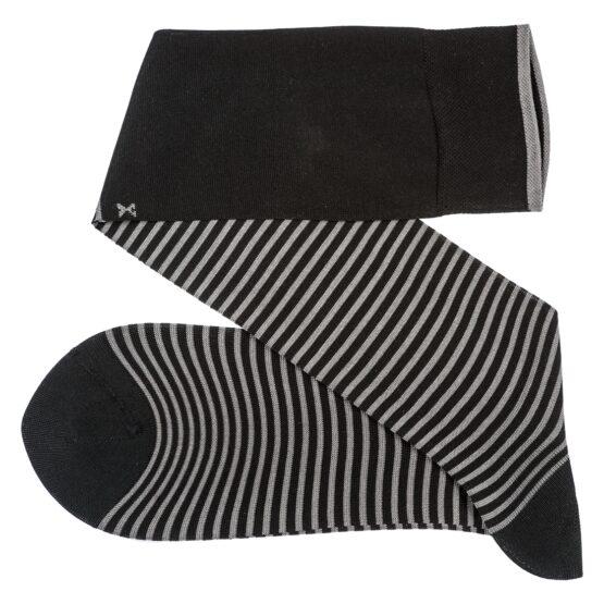 Viccel Striped over the calf Black Gray socks