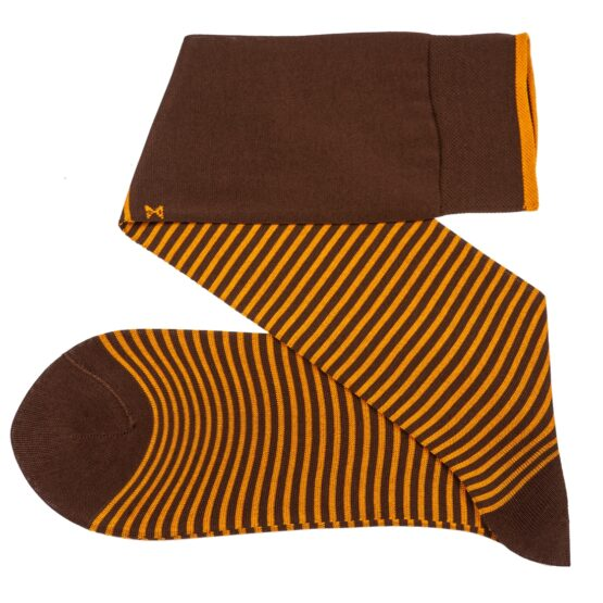 Viccel Striped brown Mustard Socks