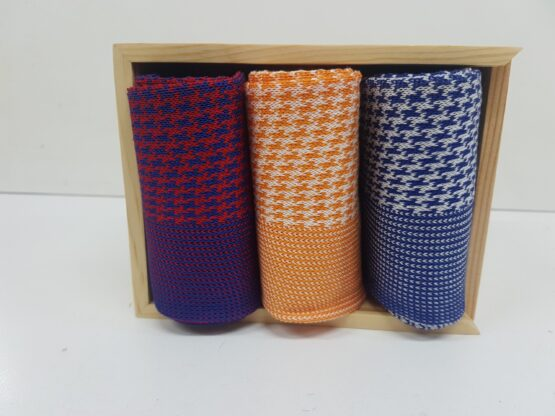 Viccel Socks houndstooth with wooden box
