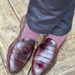 viccel socks gray burgundy striped over the calf socks