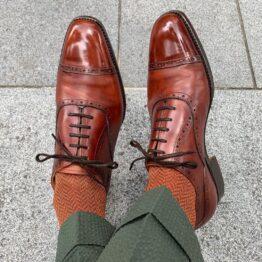 Viccel dark green herringbone cotton socks