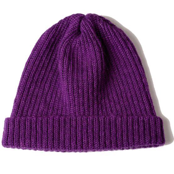 Viccel purple Merino wool hat