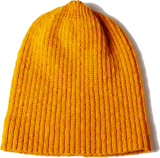 Viccel mustard Merino wool hat