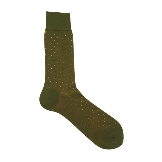 Green Mustard viccel pindot socks