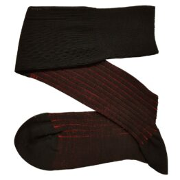 black red shadow striped cotton socks