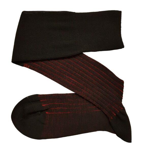 black red shadow striped cotton socks