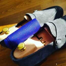 viccel royal blue red pindots cotton socks