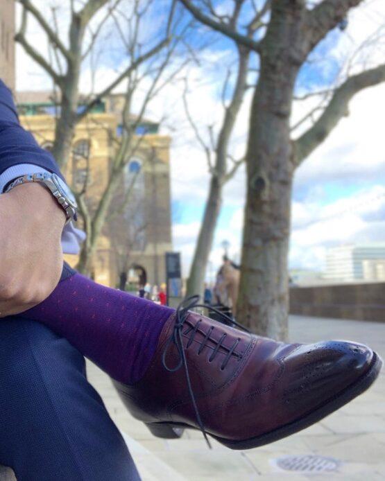 Viccel purple pindots cotton socks