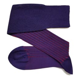viccel purple red shadow over the calf socks