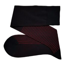 Viccel black cotton socks