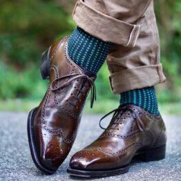viccel Socks cotton navy blue socks