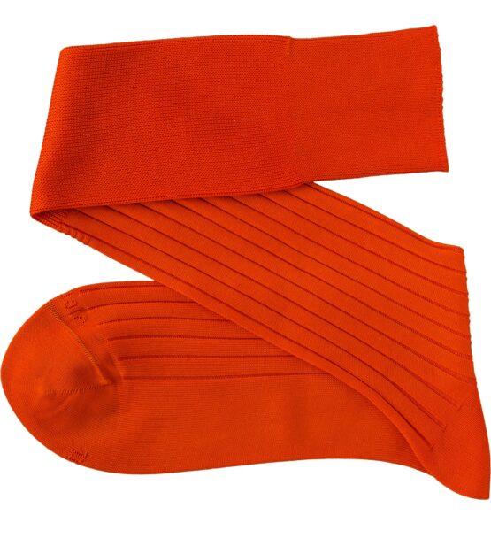 viccel orange ribbed cotton socks