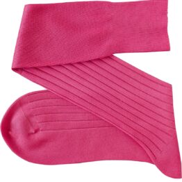 viccel pink ribbed cotton socks