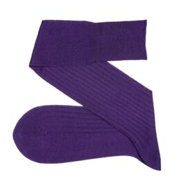viccel purple cotton ribbed socks