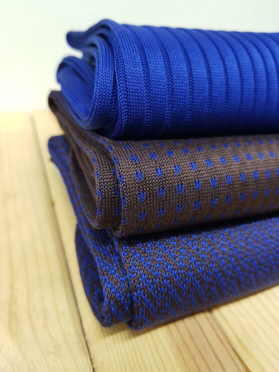 viccel brown royal blue cotton socks