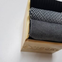 Black White Striped Cotton Socks