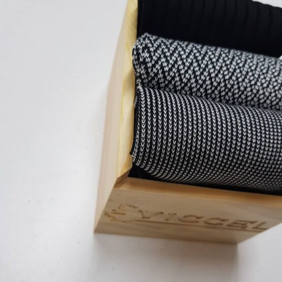 Black White Striped Cotton Socks