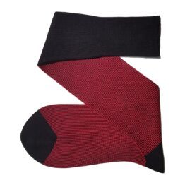 Black Red Striped Cotton Socks