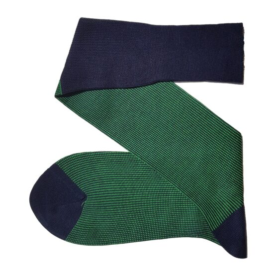 Navy blue pistachio green cotton socks