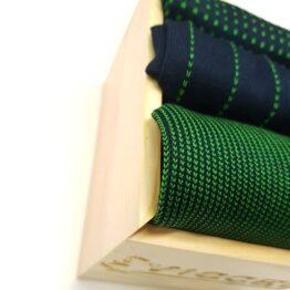 Navy blue pistachio cotton socks