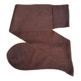 viccel brown mustard cotton pindot socks