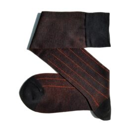 Viccel Black orange Pindot Striped socks