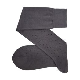 Viccel Gray Black Pindots cotton socks
