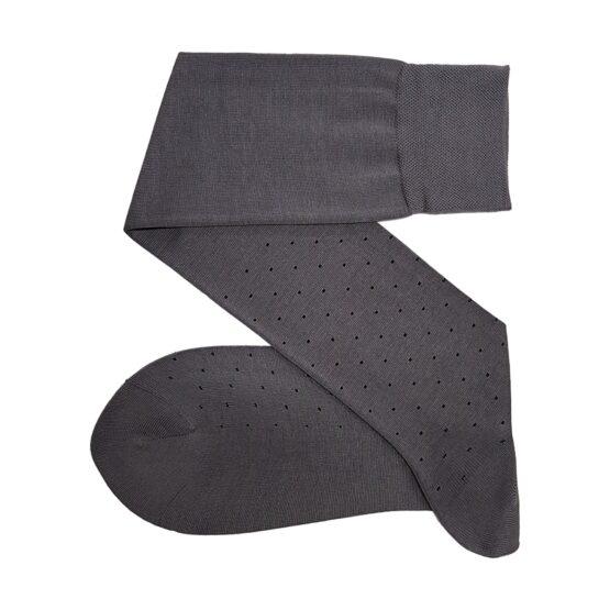 Viccel Gray Black Pindots cotton socks