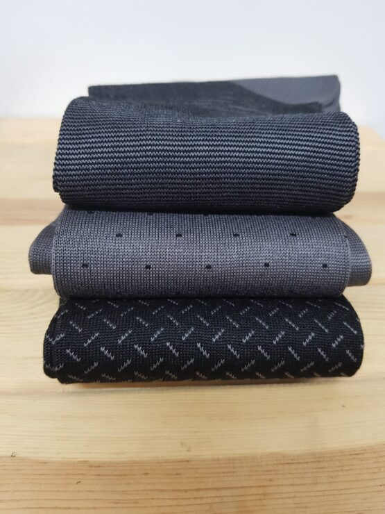 Viccel Gray Black Striped cotton socks