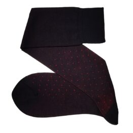 Viccel Black Red Pindots cotton socks