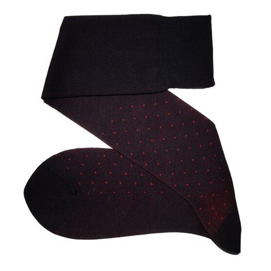Viccel Black Red Pindots cotton socks