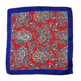 Viccel paisley silk pocket square