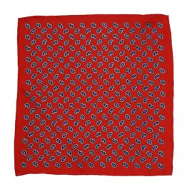 viccel red paisley pocket square