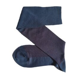 viccel light navy blue burgundy fishnet cotton socks