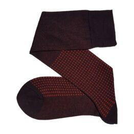 brown square cotton socks