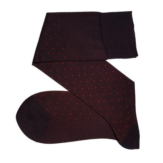 brown pindots cotton socks