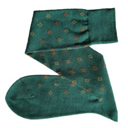 viccel Forest green merino wool socks