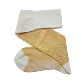 Merino wool Herringbone white socks