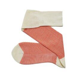 Merino wool Herringbone white socks