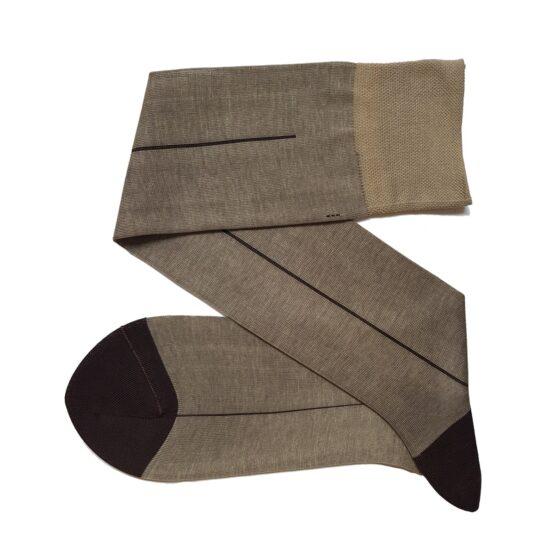 Viccel Beige Brown Cotton Socks